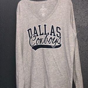 Dallas Cowboys Authentic Tops - Dallas Cowboys GRAPHIC Long Sleeve Tee